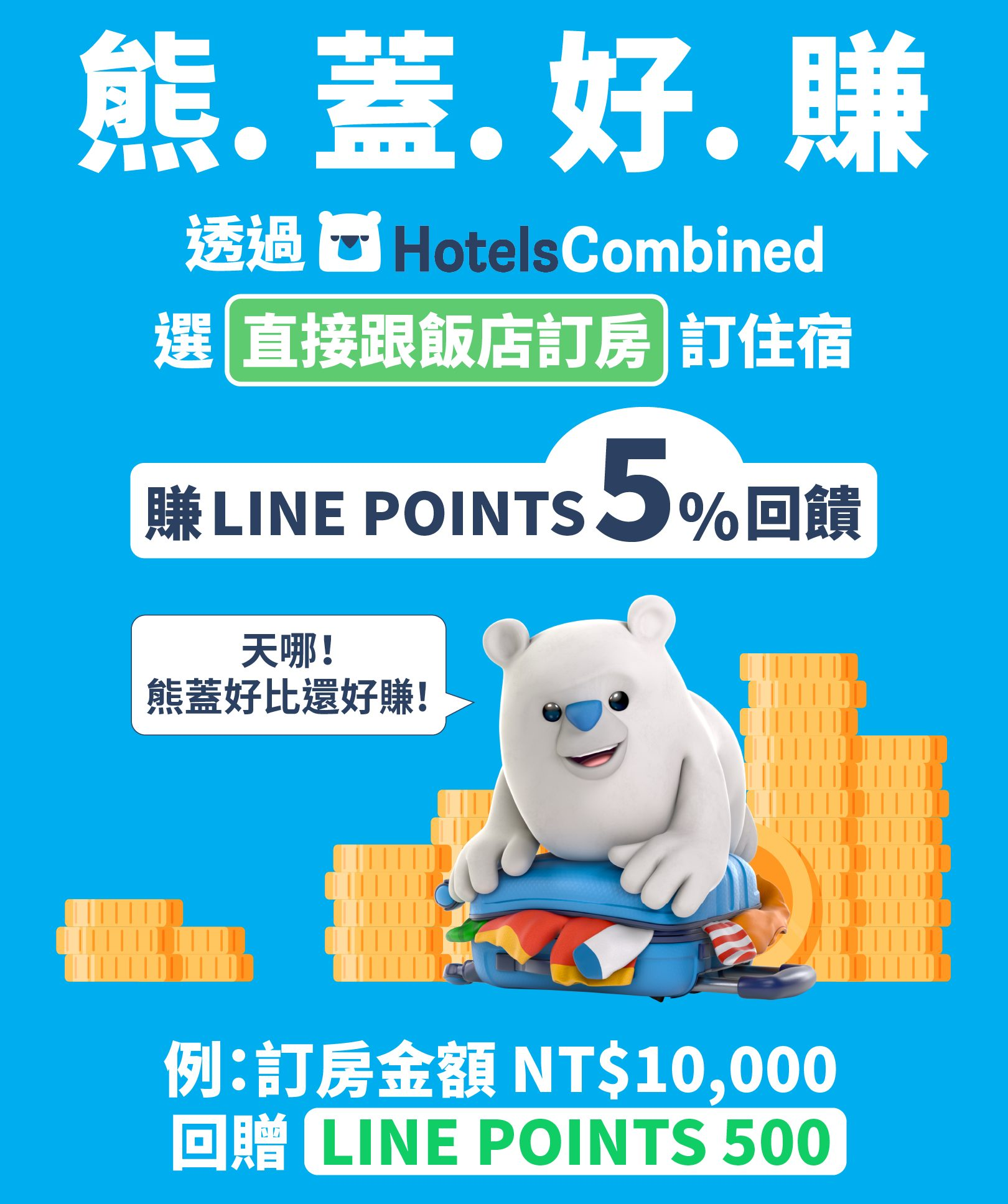 HotelsCombined LINE POINTS回饋活動