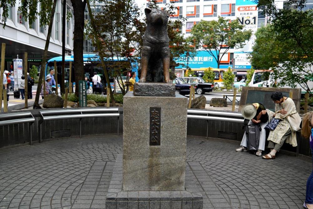 忠犬八公雕像