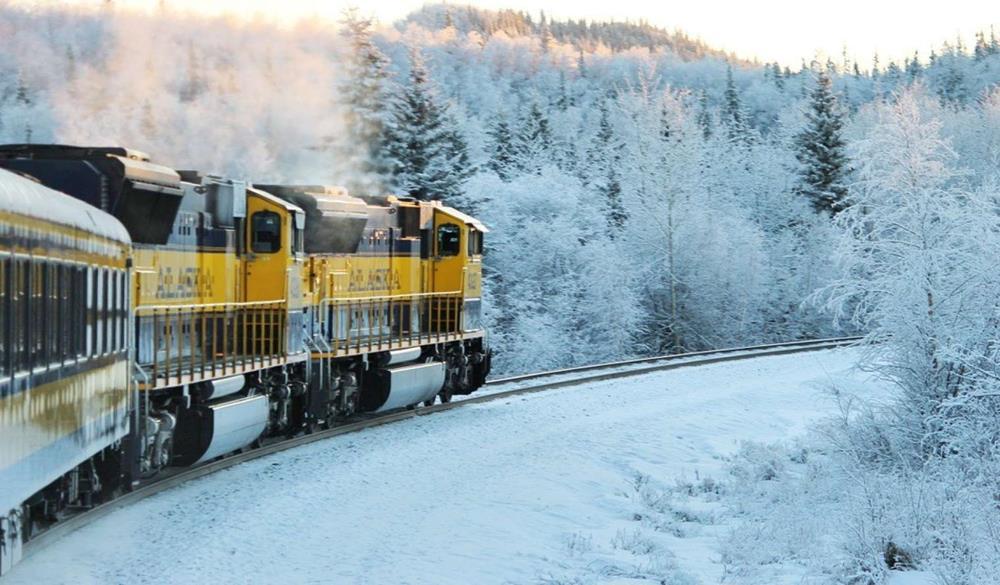 阿拉斯加的冬季北極列車