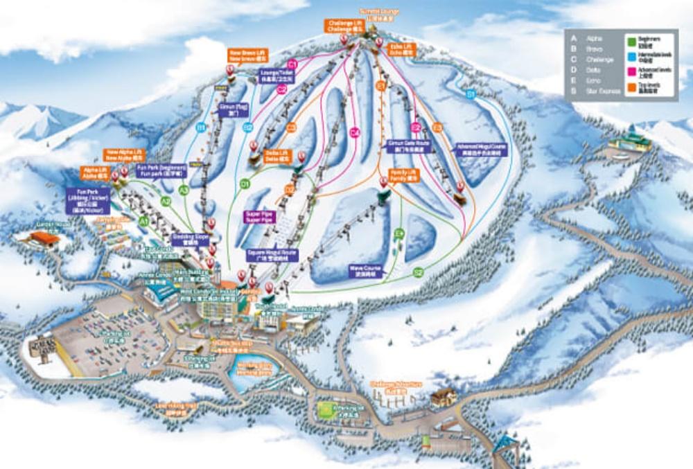 韓國-威利希利滑雪場-滑雪道