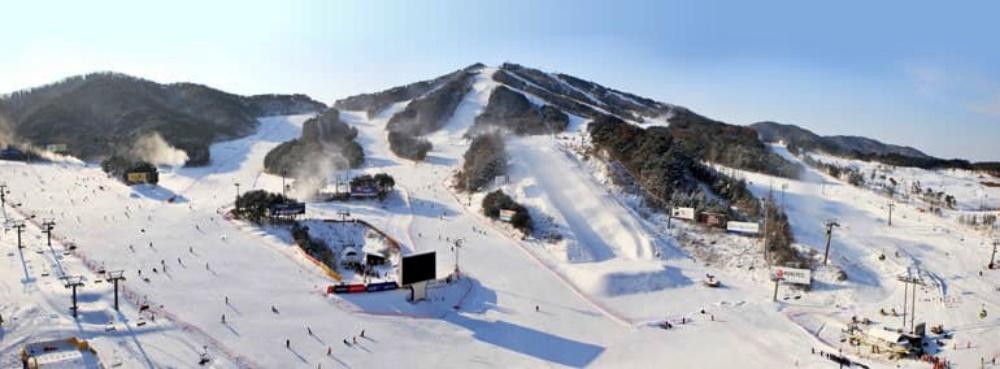 韓國-威利希利滑雪場-滑雪道3