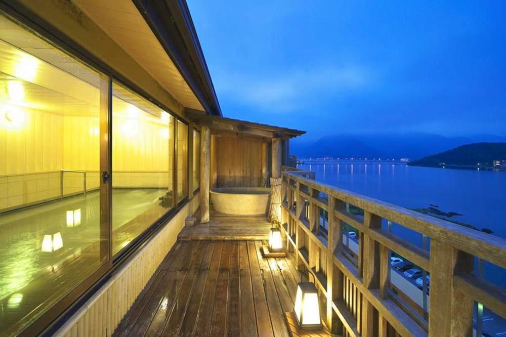 富士山-河口湖-住宿-花之庭-景觀溫泉