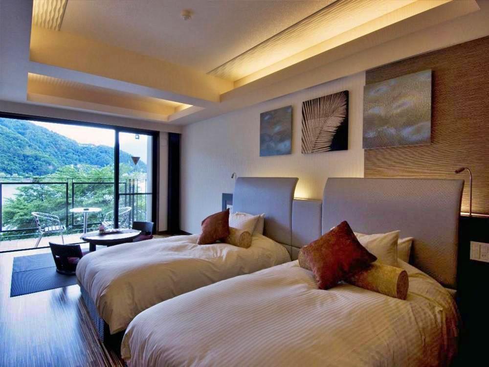 富士山-河口湖-住宿-風之露台庫庫那-西式客房