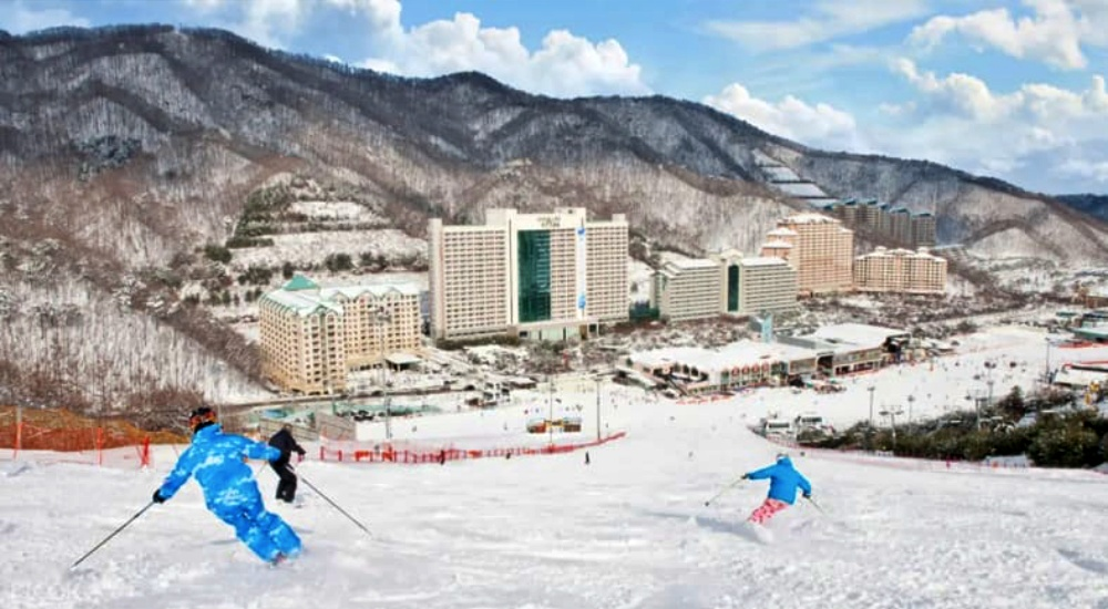 韓國-洪川大明維爾瓦第滑雪場-滑雪道