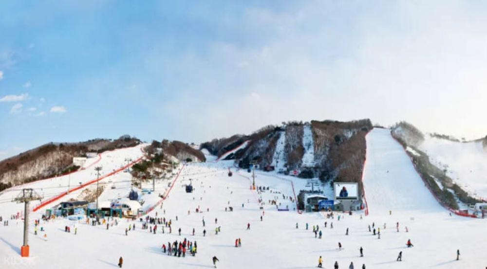 韓國-洪川大明維爾瓦第滑雪場-滑雪道2