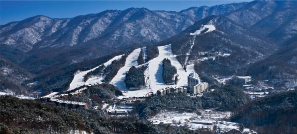 韓國-熊城滑雪場-滑雪道
