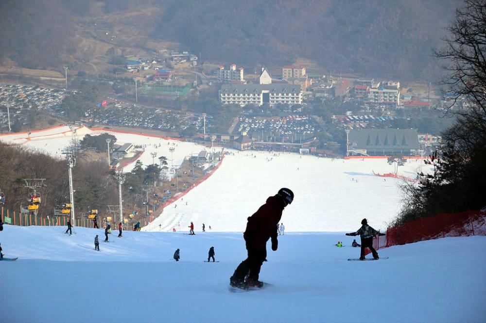 韓國-滑雪-芝山滑雪場