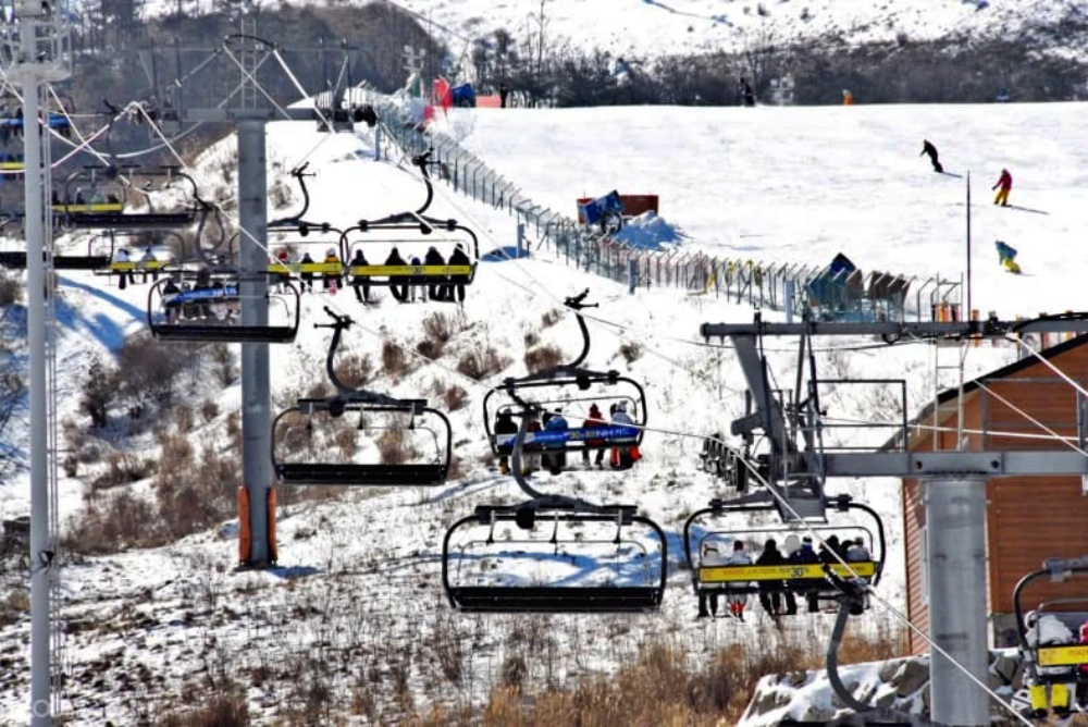韓國-釜山-伊甸園山谷滑雪度假村-滑雪纜車