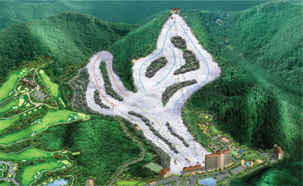 韓國-釜山-伊甸園山谷滑雪度假村-滑雪道