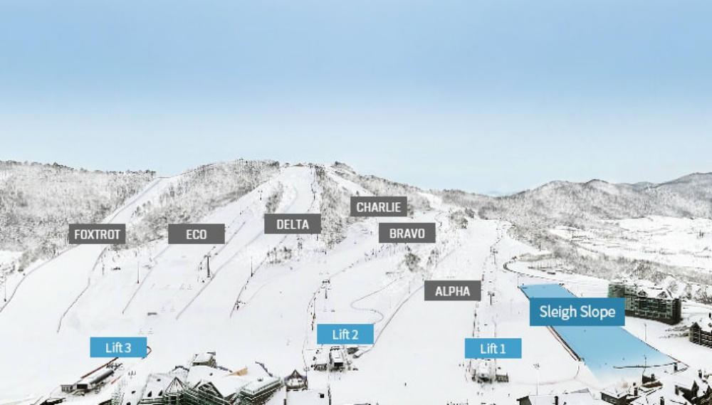 韓國-阿爾卑西亞滑雪度假村-滑雪道