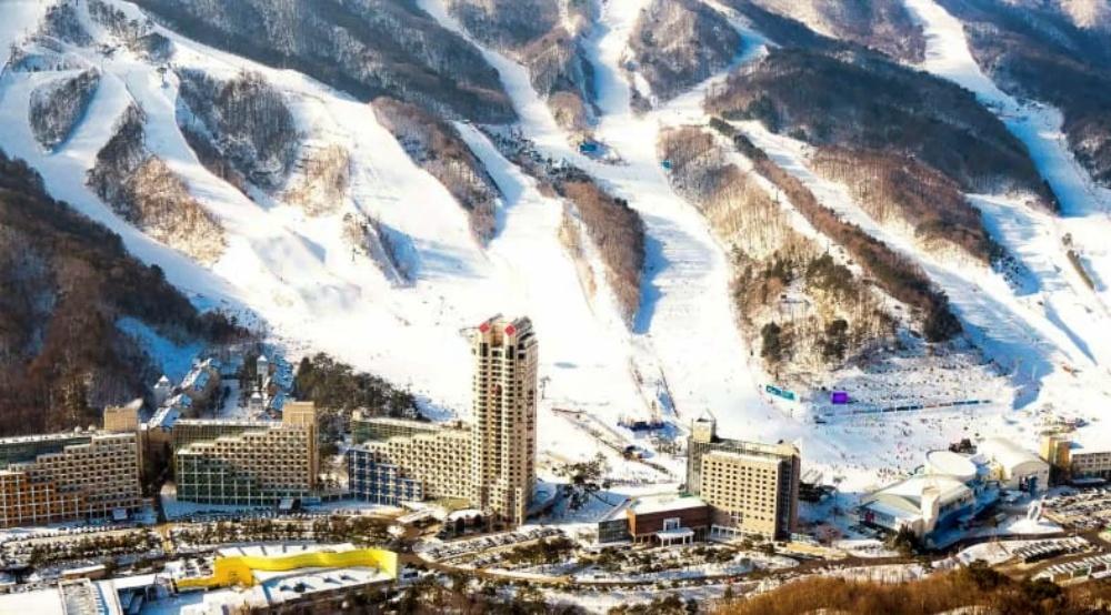 韓國-鳳凰平昌滑雪場-滑雪道2