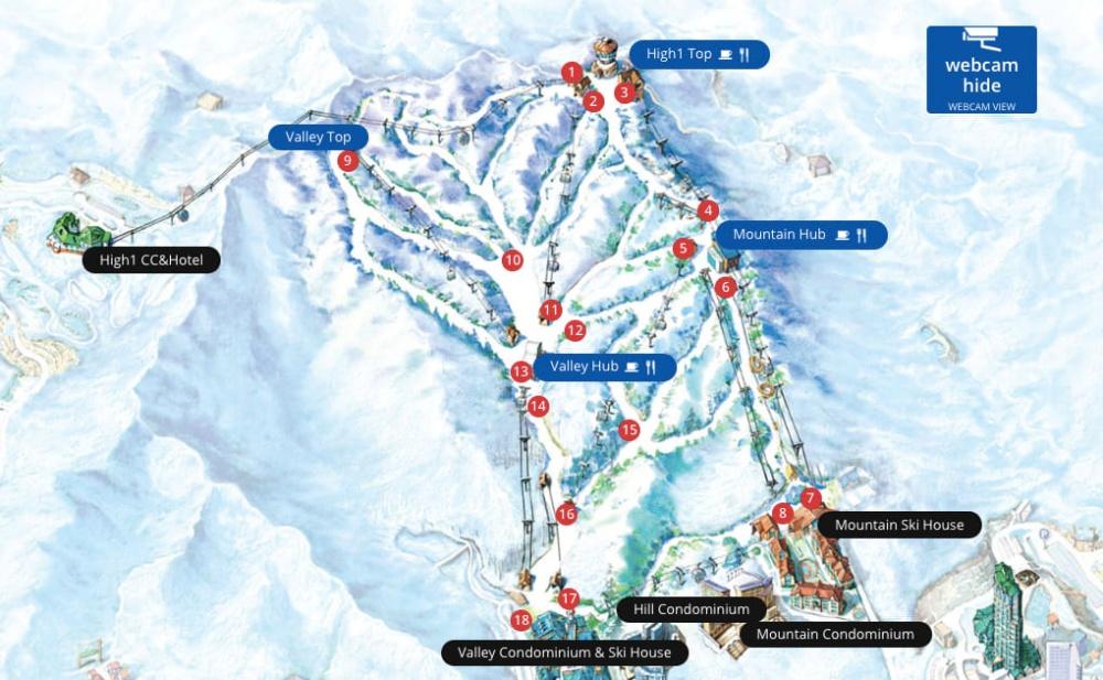 韓國-HIGH-ONE-滑雪場-滑雪道