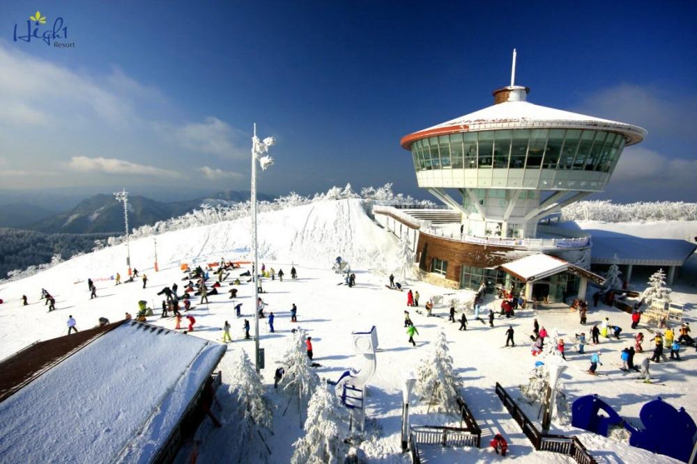 韓國-HIGH-ONE-滑雪場-滑雪道2