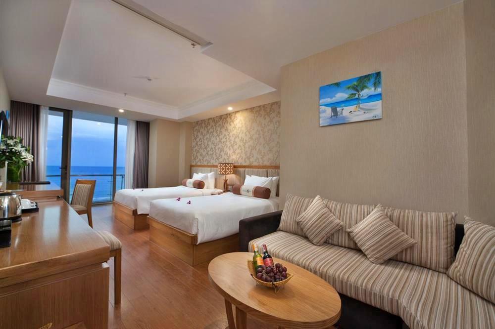 峴港-住宿-推薦-鑽石海飯店-雙床房