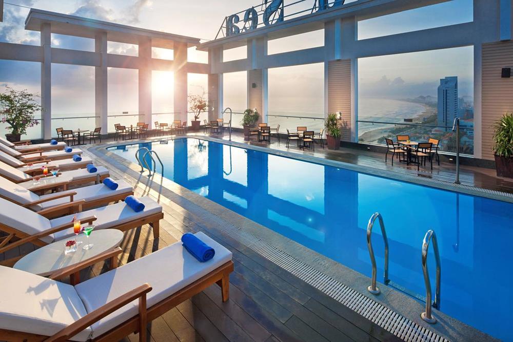 峴港-住宿-推薦-鑽石海飯店-露天泳池