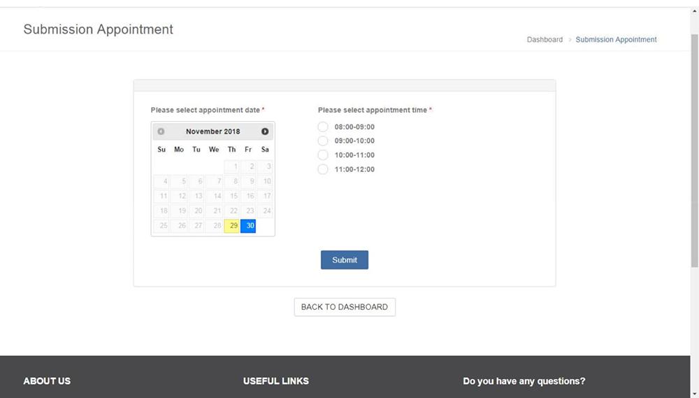 泰國簽證-新規定-預約時間
