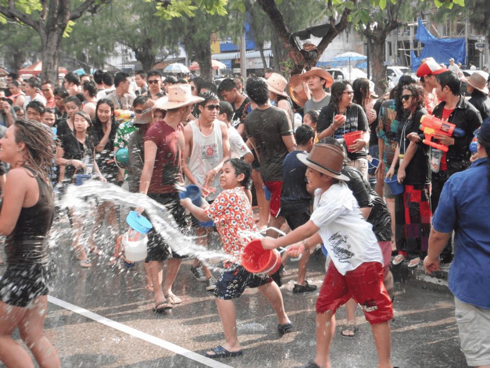 泰國潑水節