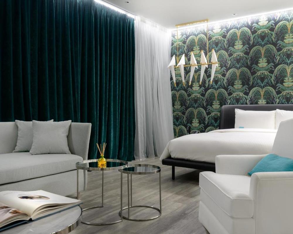台北-泡泡飯店-綠色房間