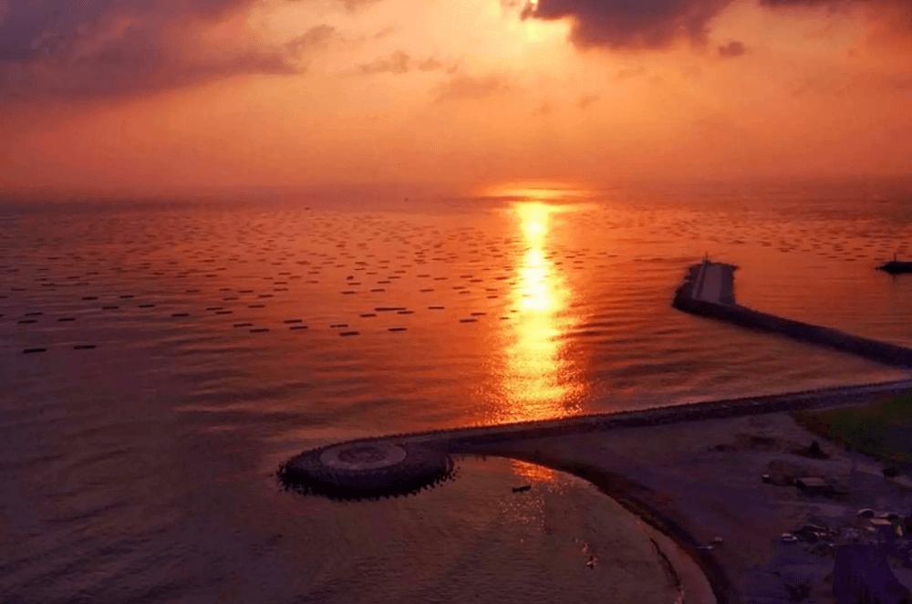 台南輕旅行-景點-漁光島夕陽