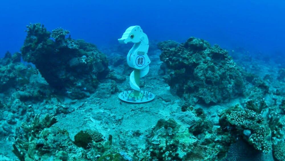 台灣潛水地點-綠島海馬海底郵筒