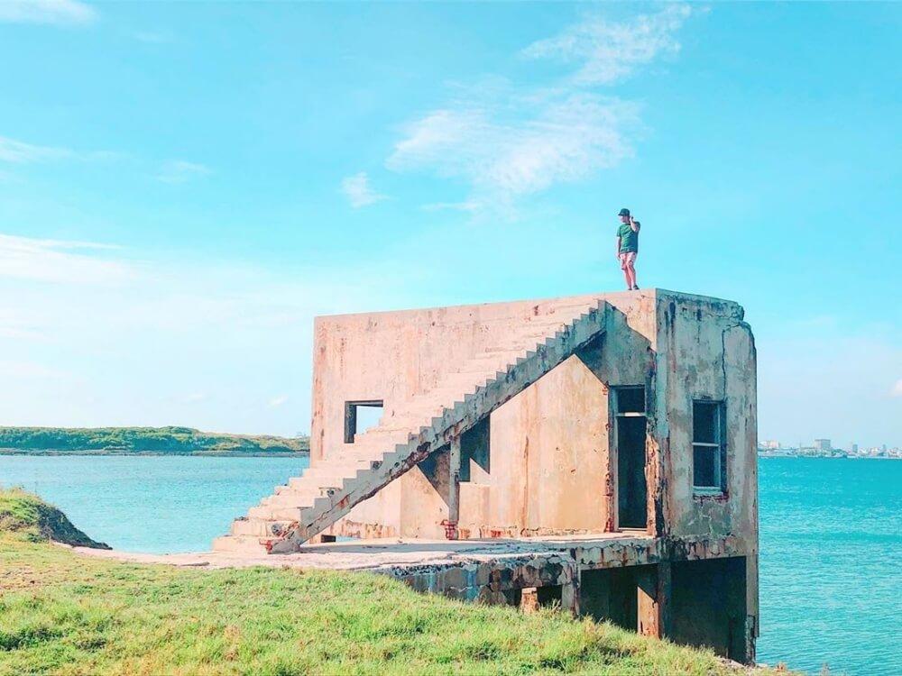 澎湖景點2020-青灣仙人掌公園旁廢墟