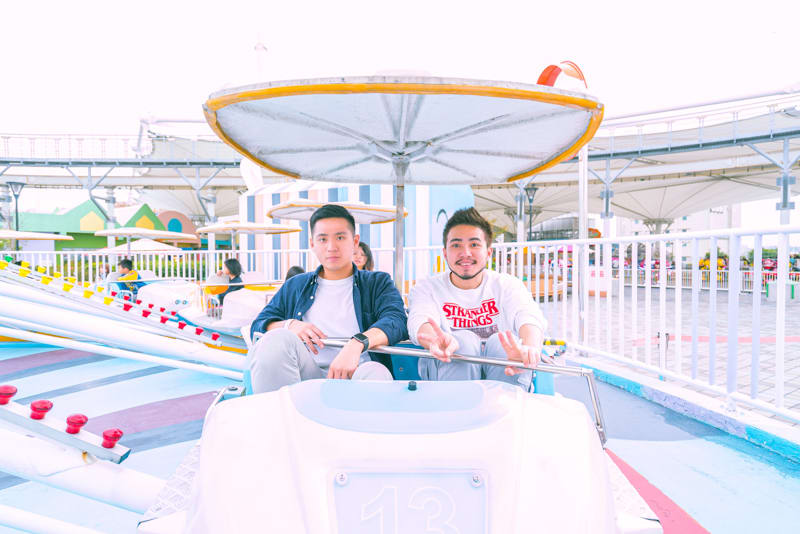 台北週末景點-兒童新樂園-旋轉飛車
