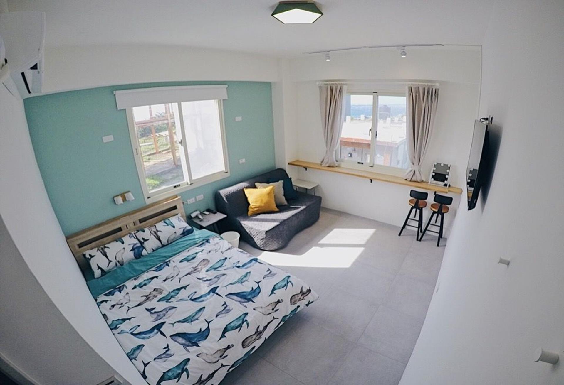 綠島海景民宿推薦 - 綠島放個假旅宿大雙人套房(附沙發)