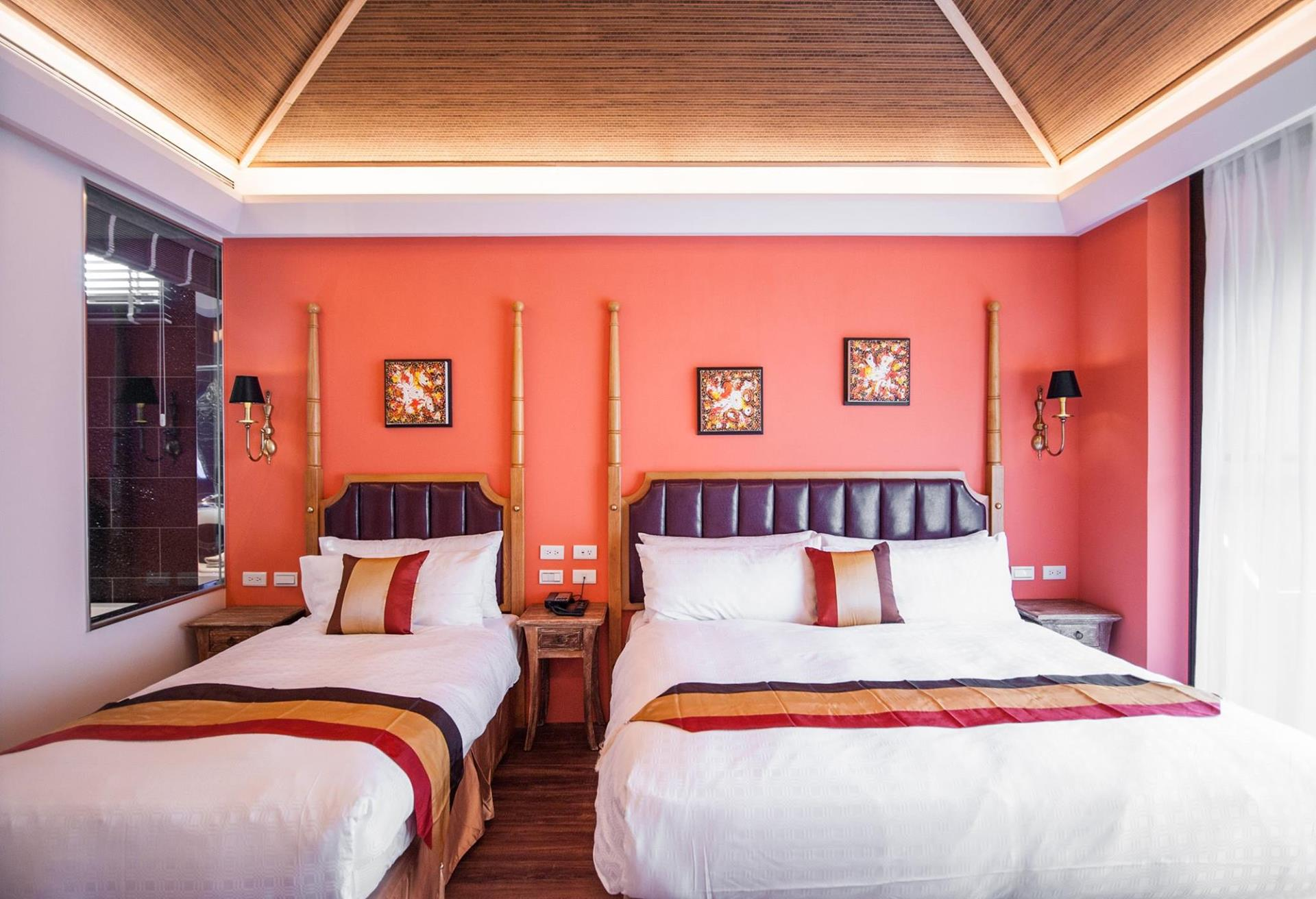 墾丁南灣民宿推薦 - 夢想家精緻旅店的接待大廳,佈置很有異國風情