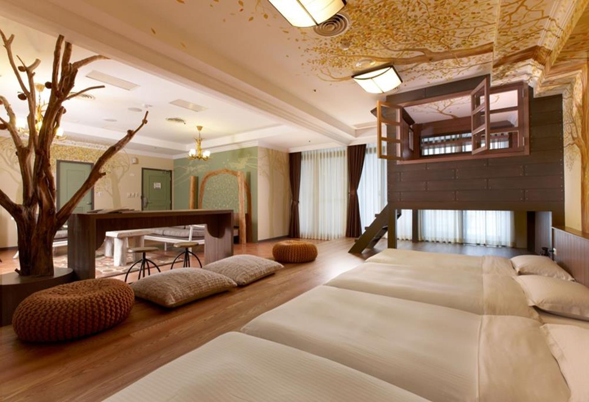 台北親子飯店推薦 - 陽明山天籟渡假酒店童話森林六人房