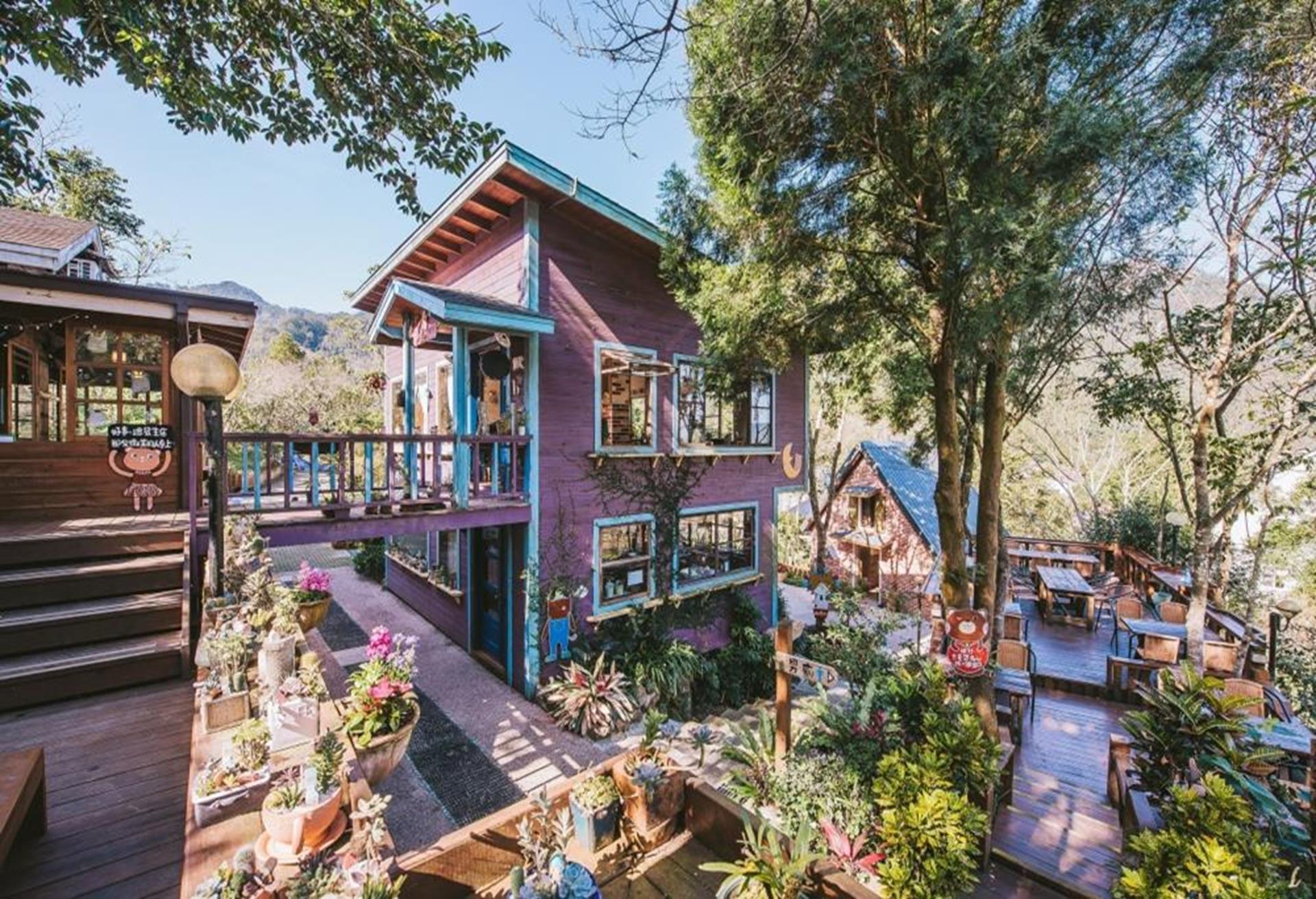 苗栗南庄飯店住宿推薦 - 南庄橄欖樹咖啡民宿主咖啡屋與咖啡廳紫屋