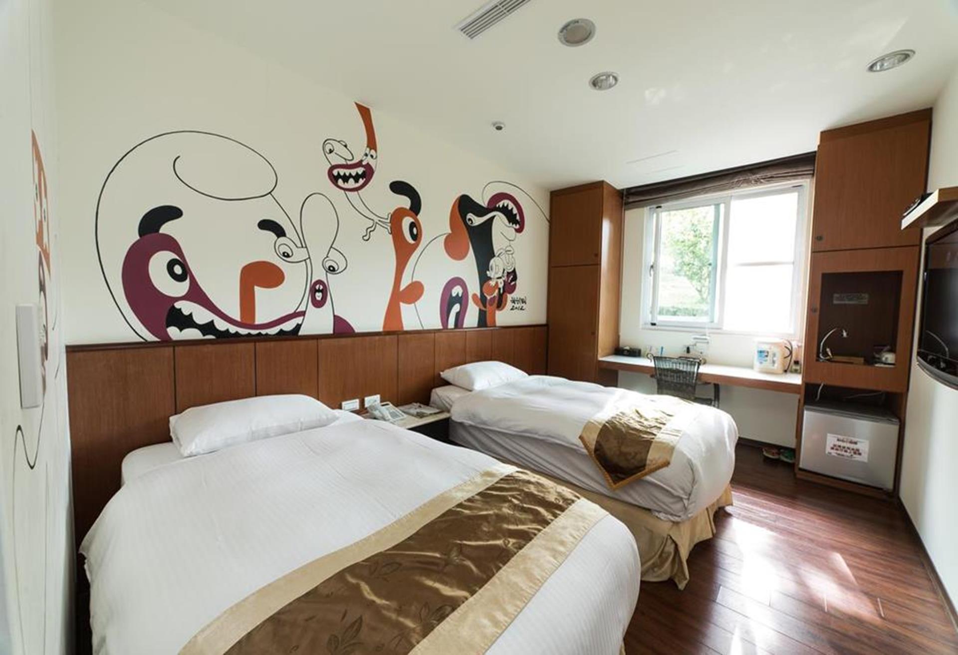 溪頭渡假飯店推薦 - 夏緹飯店雙床房