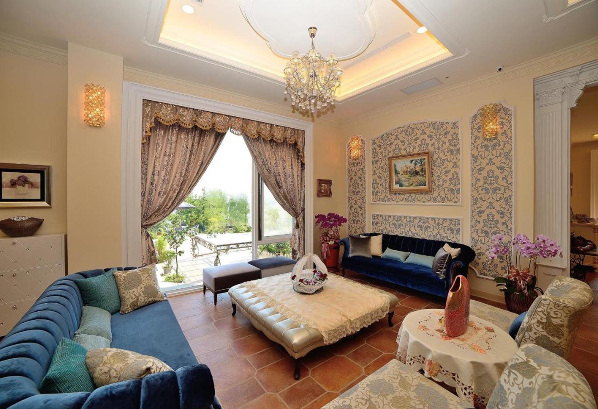 溪頭渡假飯店推薦 - 維多麗亞玫瑰莊園休憩客廳